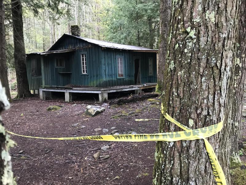 A cabin at Elkmont is cordoned off because of its deterioration. Great Smoky Mountains National Park faces a $215 million list of needed repairs.