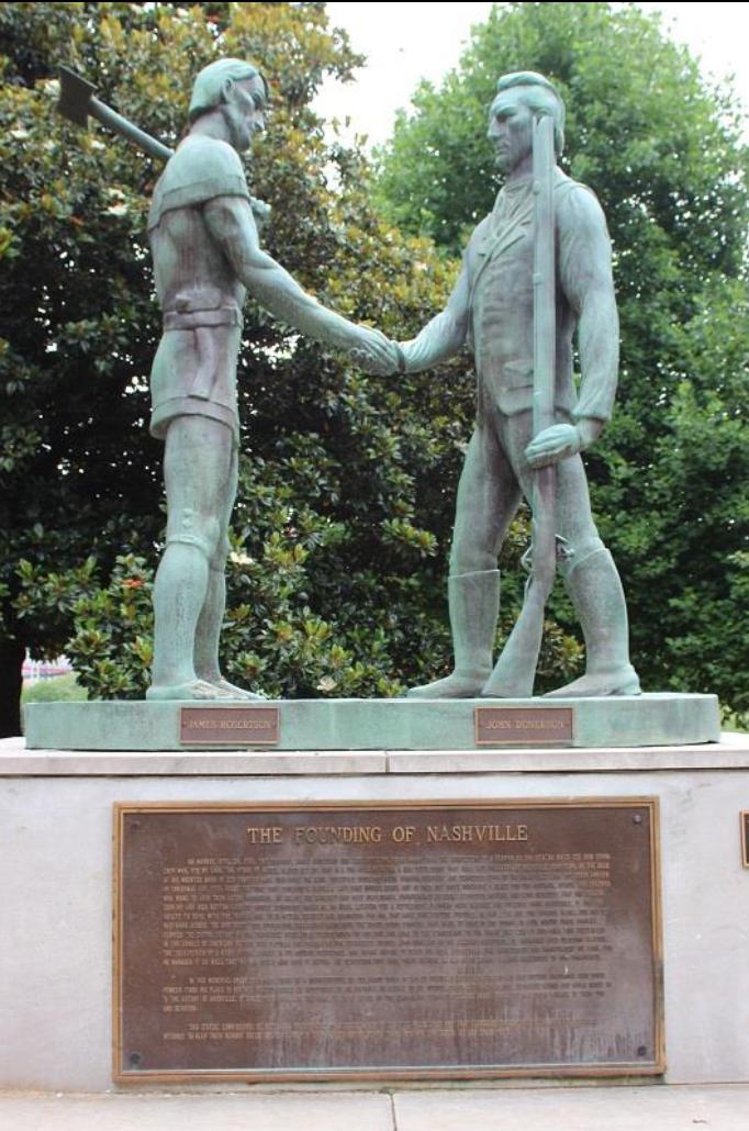 Founding of Nashville sculpture