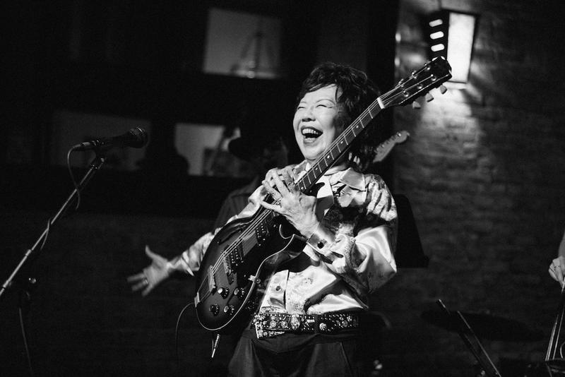 Tomi Fujiyama performs at the Made in Japan release party during the 2015 South by Southwest festival in Austin, Texas.