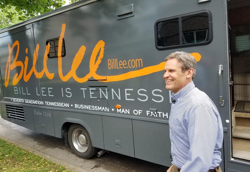 Bill Lee launches his campaign in 2017 with a bus tour starting at Nashville's Bicentennial Mall.