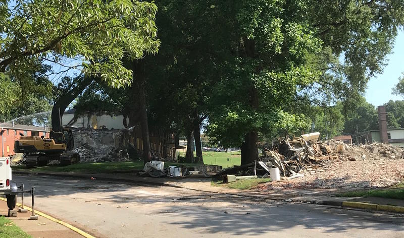This week, in preperation for a massive overhaul, Nashville's housing authority began demolishing the first buildings in the James Cayce public housing complex.