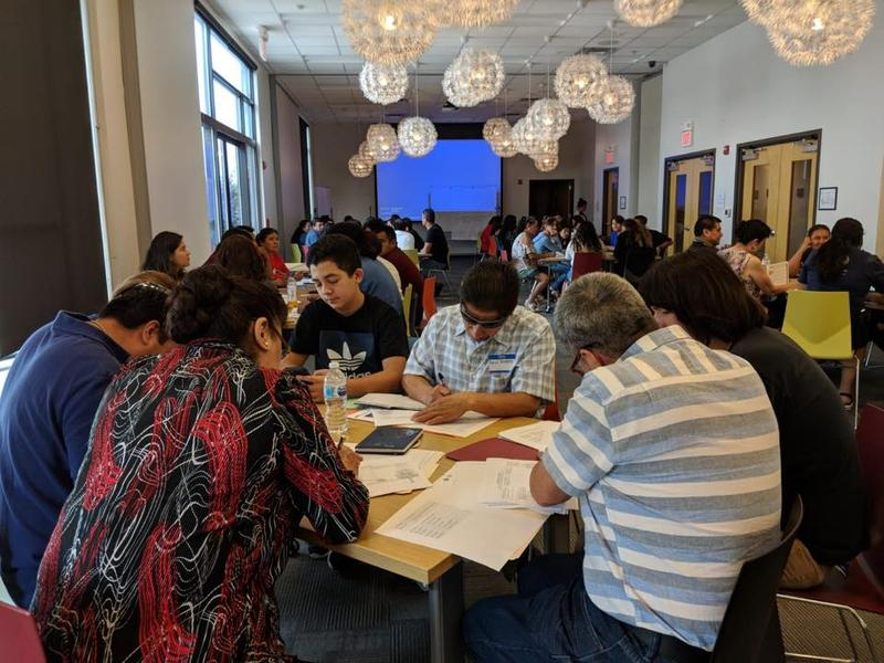 Participants in a workshop at the Tennessee Immigrant & Refugee Rights Coalition's offices in South Nashville learn how to respond to an immigration raid.