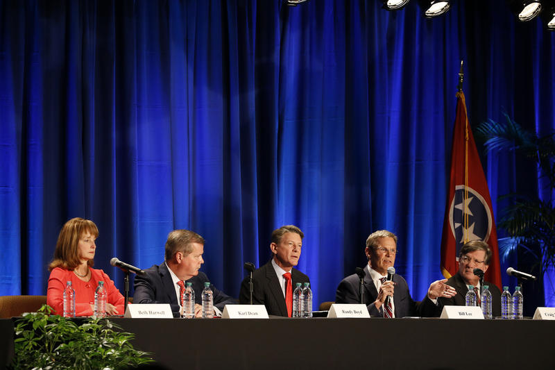 Candidates for governor of Tennessee took questions at a forum hosted by the Nashville Health Care Council.