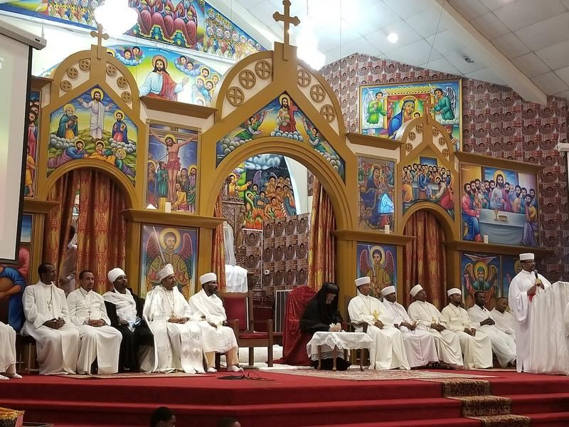 Congregants from various Ethiopian Orthodox Churches came together for a joint meeting and service.