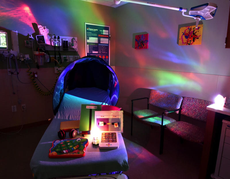 The Children's Hospital at TriStar Centennial has tried projected lights to act as a distraction to patients on the autism spectrum.