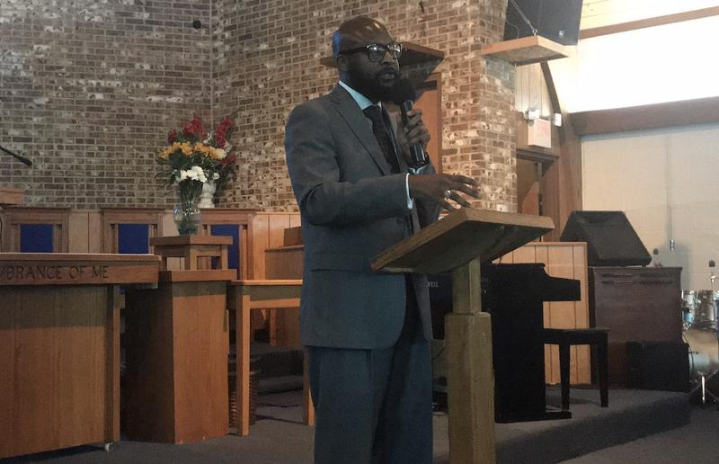 Reverend Rev. James Turner II, pastor of New Hope Missionary Baptist Church, was among those calling for Police Chief Steve Anderson's resignation.
