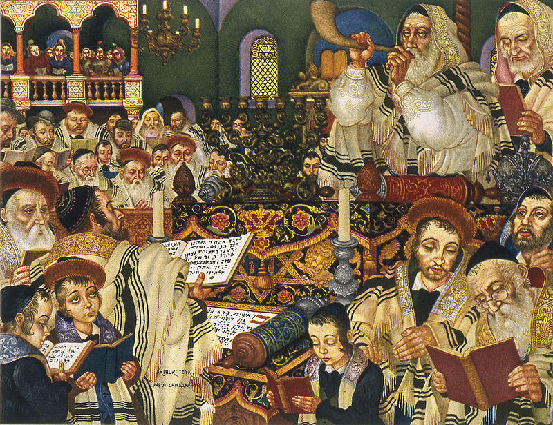 """Rosh Hashanah"" from The Holiday Series: Six Paintings of Jewish Holidays (1948)"