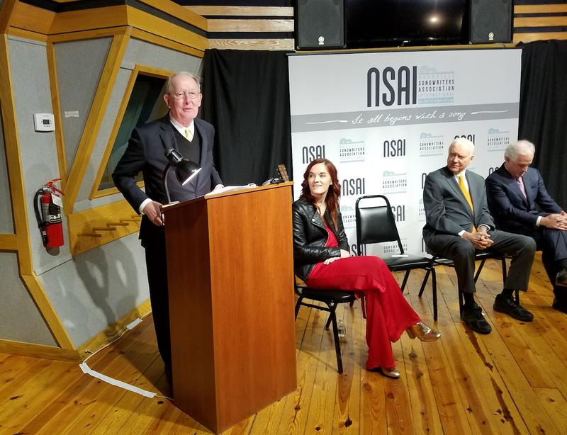 Sen. Lamar Alexander spoke at a press conference in Nashville in March to promote the Music Modernization Act.
