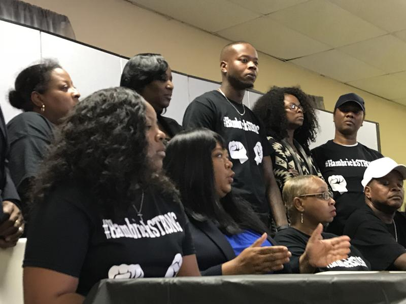 Family members of Daniel Hambrick, who was fatally shot by Officer Andrew Delke, react to homicide charges against Delke.