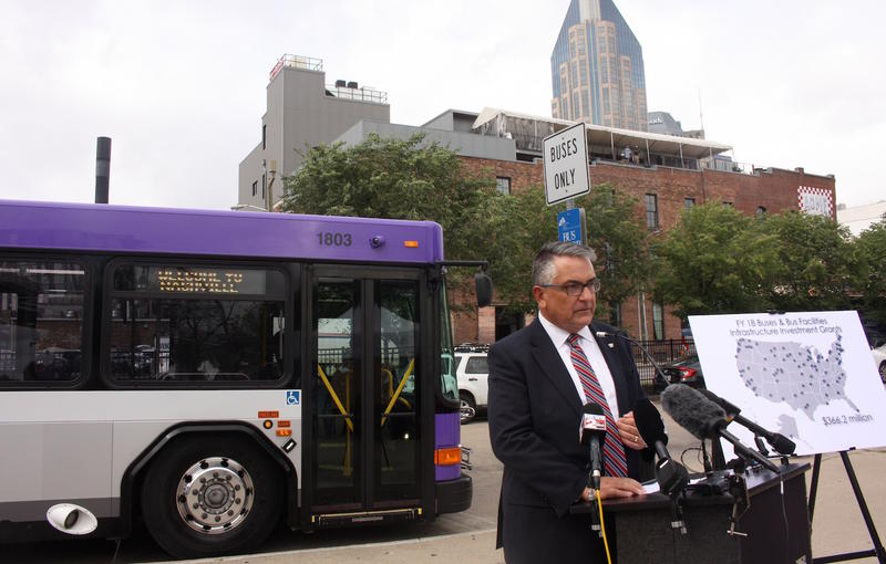 Nashville bus downtown
