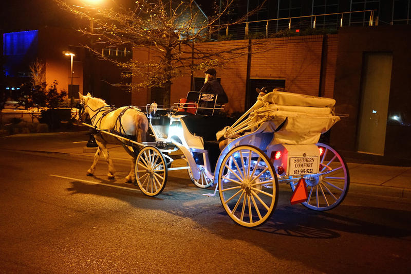 Horse carriage drivers in Nashville have been engaged in tit-for-tat bickering after the city shrank and relocated the loading zones where they can pick up passengers.
