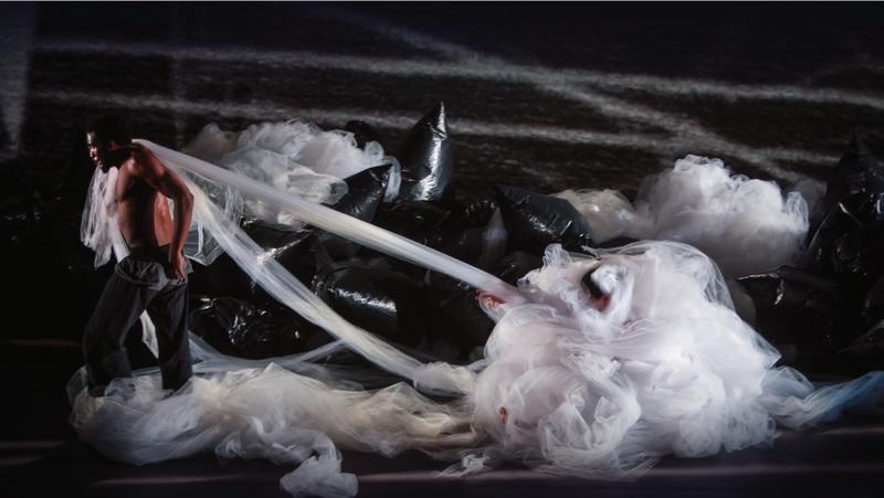 "Flex dancer Klassic Carella in Phantom Limb's ""Falling Out"""