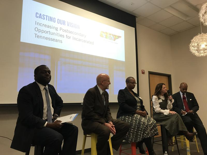 Education advocates and representatives from the TDOC discuss education in prison at a November panel.