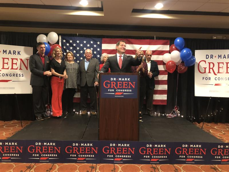 Mark Green thanks supporters after winning Marsha Blackburn's seventh district House seat.