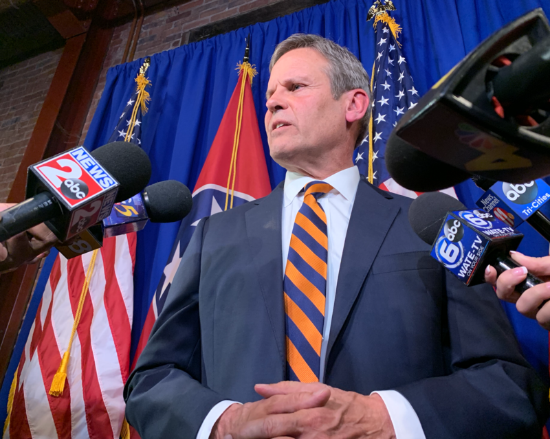 After winning Tennessee's race for governor, Republican Bill Lee gave a victory speech and then took questions from reporters.
