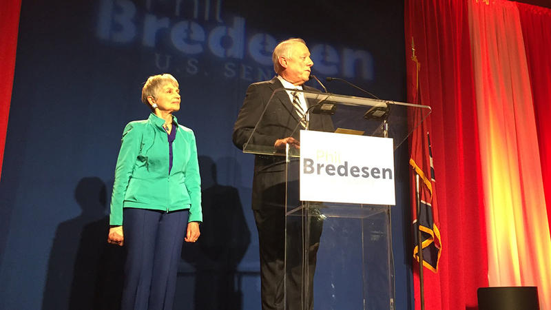 Democrat Phil Bredesen concedes his hard-fought Senate race against Republican Congressman Marsha Blackburn