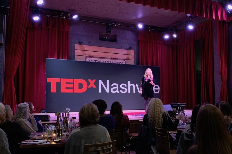 Former Nashville Mayor Megan Barry gave a TED talk at a TEDxNashville event featuring all women on Thursday.