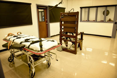 Death row inmates in Tennessee whose crimes were committed before 1999 have the option of the electric chair, though only three have ever picked the method. The Riverbend execution chamber houses the gurney for lethal injection and the electric chair.