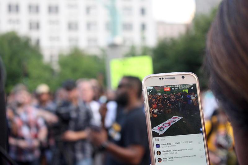 Nashville Black Lives Matter vigil Facebook live
