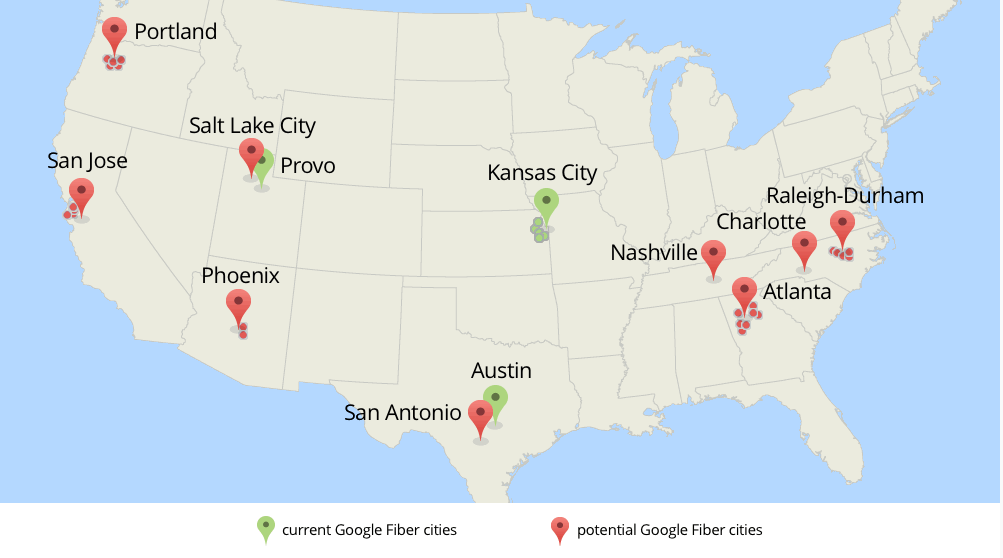 Nashville techies get hyped as google fiber plans big announcement google fiber announced it was considering expanding to nine metro areas last february it has already started installing in kansas city provo and austin gumiabroncs Gallery