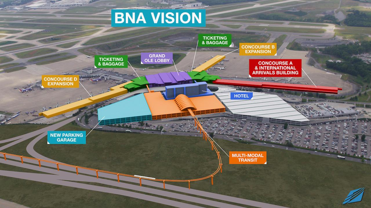 Bna Plans Billion Dollar Expansion Nashville Public Radio