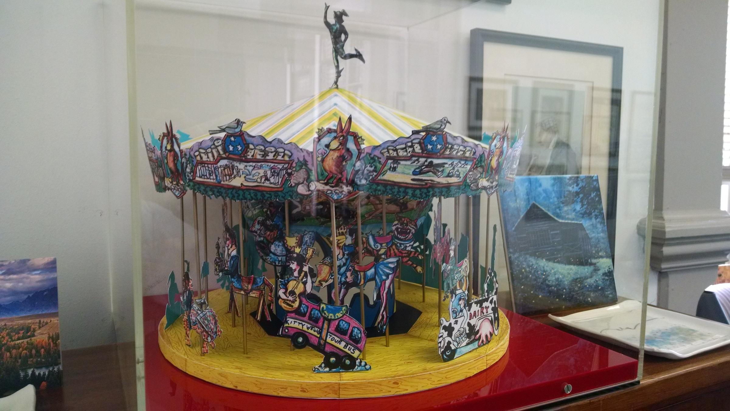 A Model In Nashville Lawyer Bob Tukes Office Shows What The Carousel Looks Like When Constructed