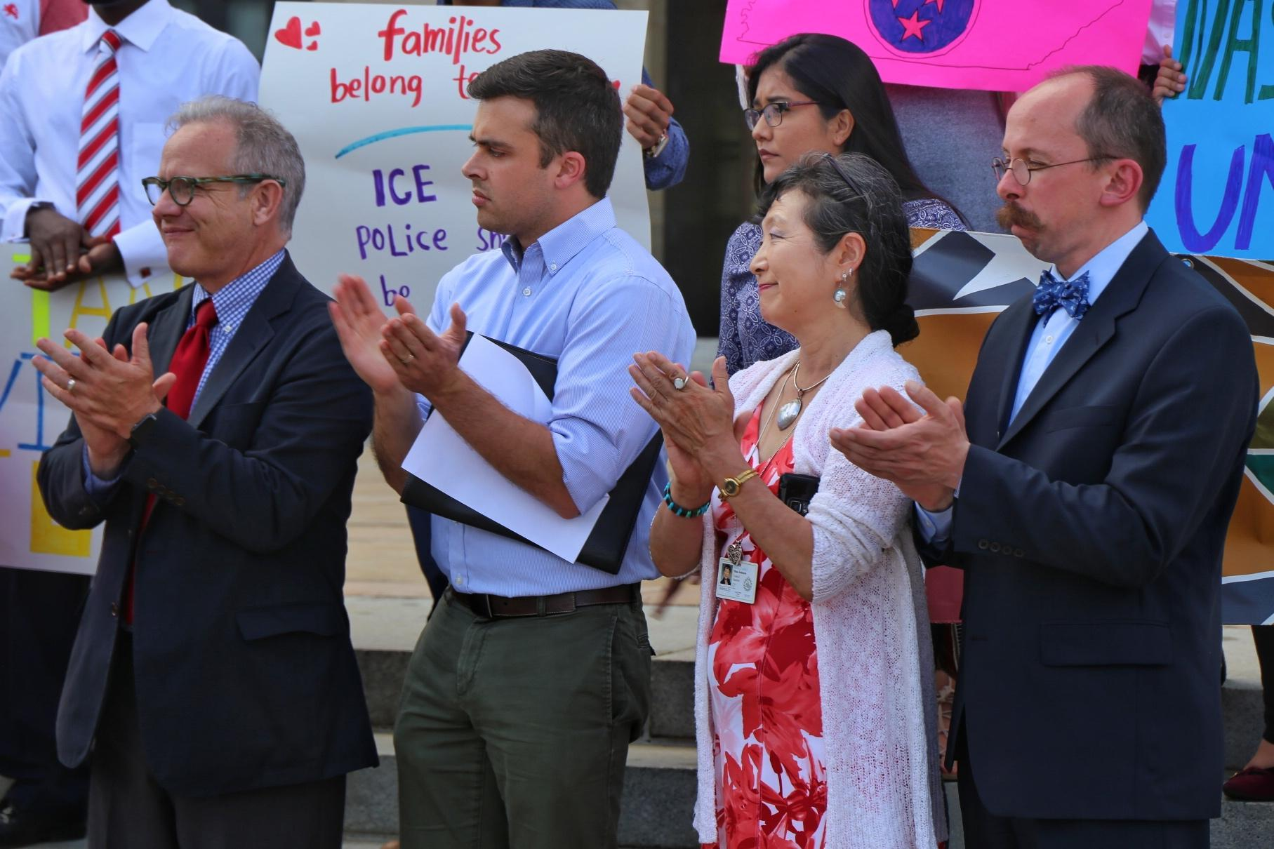 Workers detained by ICE on military base denied immigration hearing
