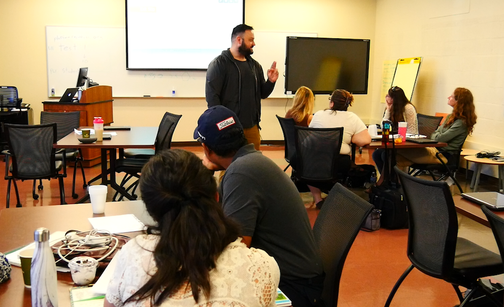 This summer, the first batch is training on new curriculum designed by a  local charter school operator.