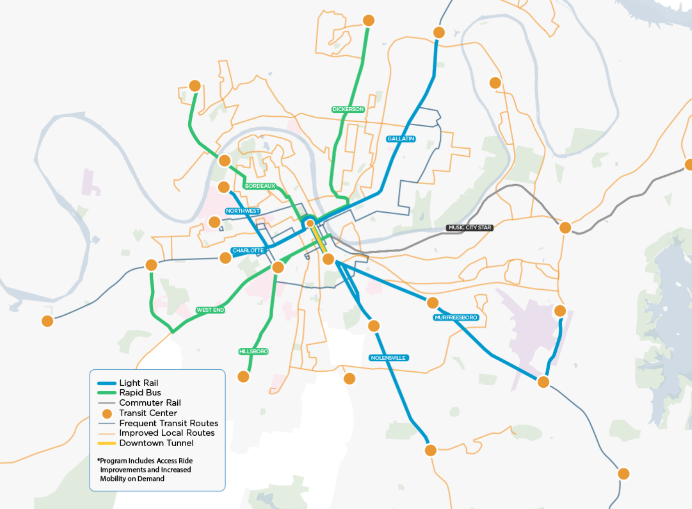 Nashville Leaders Hope Big Ticket Transit Will Inspire Surrounding