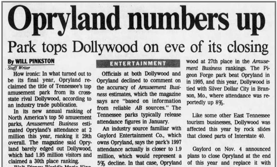 Opryland Usa Map.Curious Nashville Why Did Opryland Usa Go Away Nashville Public