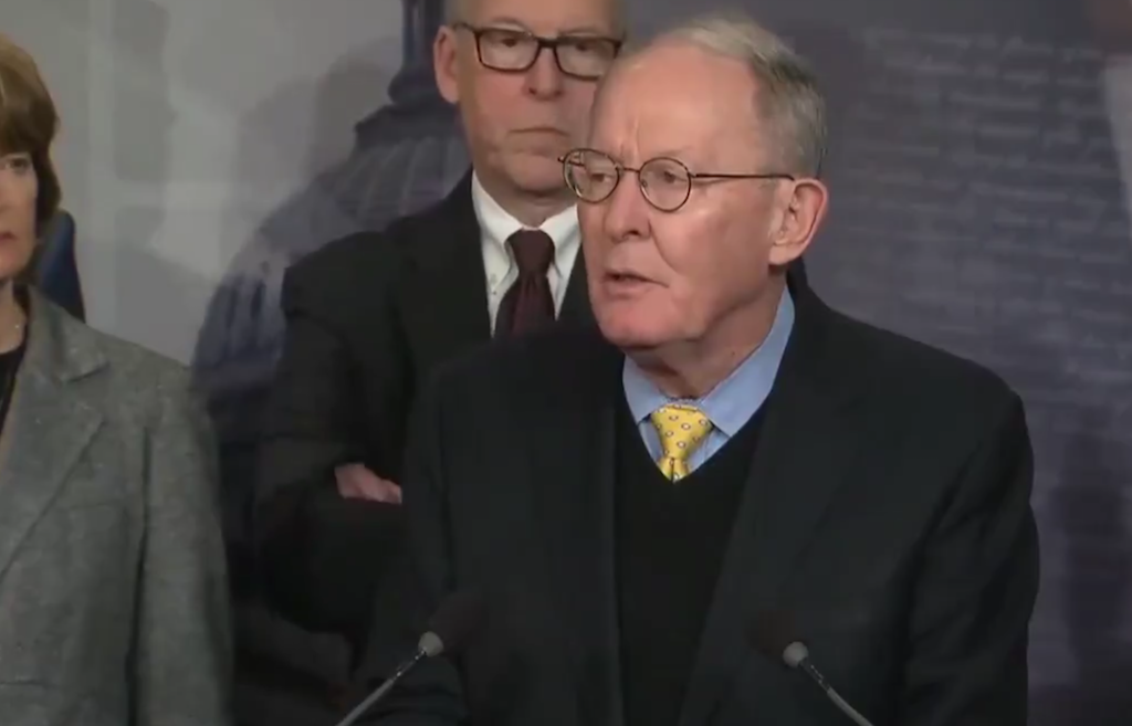 a493f0402b9784 Sen. Lamar Alexander leads a press conference at the U.S. Capitol  Wednesday