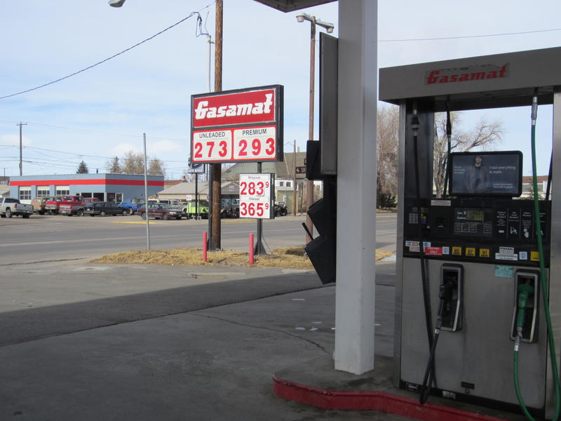 Unleaded gas at the Gasamat in Laramie cost $2.73 Wednesday.