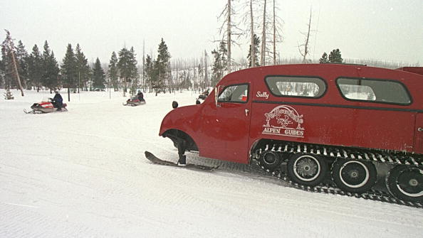 Roads in Yellowstone National Park will open this weekend to guided snow coaches and snowmobiles.