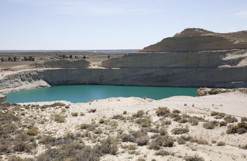 The McIntosh Pit in Jeffrey City is full of water that has a high content of radionucleides.