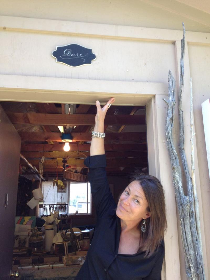Artistic Director Babs Case in front of her art studio, where she finds inspiration for her choreography and teaching.