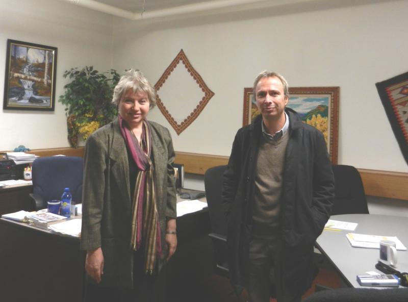 Christina Kuzmych and Bert De Vroey from Belgian Public Radio