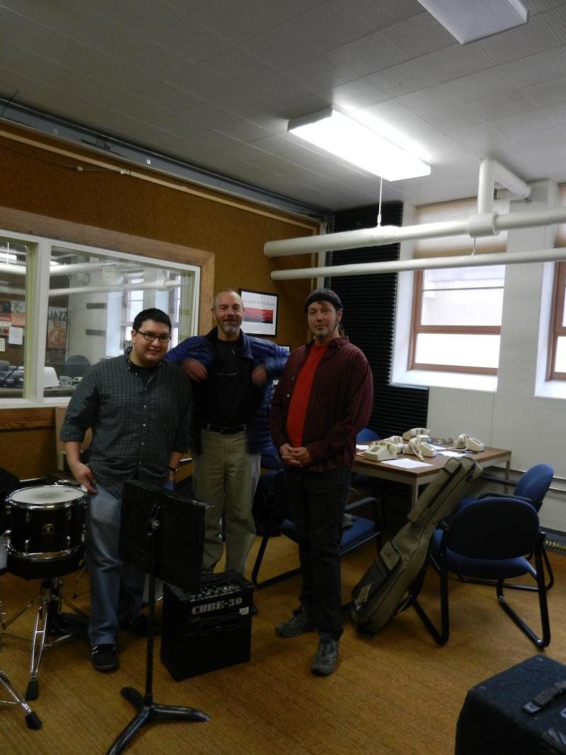 Shaun Kelly, Peter Queal and Sean Francis offer a live performance during the WPR Holiday Open House