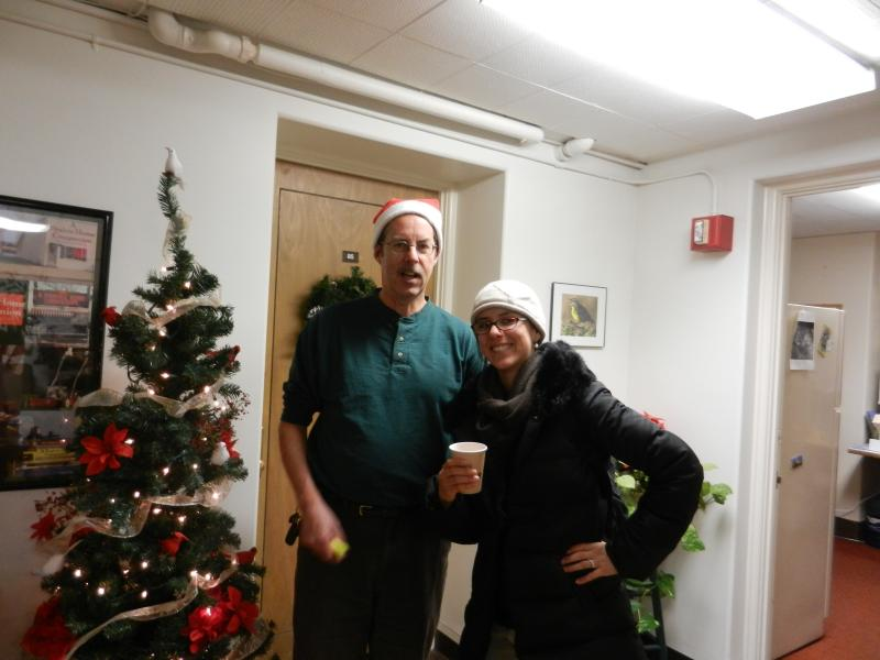 WPR Program Director Grady Kirkpatrick and Reporter Sarah Hossaini during Holiday Open House