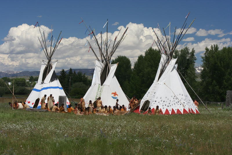 Green River Rendezvous Pageant, July 14th, 2013 Shoshone Camp