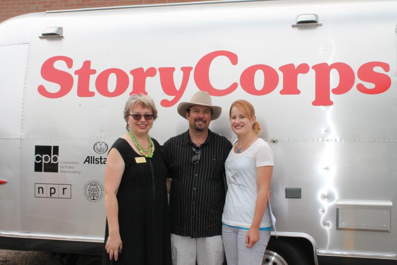 WPM General Manager Christina Kuzmych with Author CJ Box and his daughter Molly Box Donnell