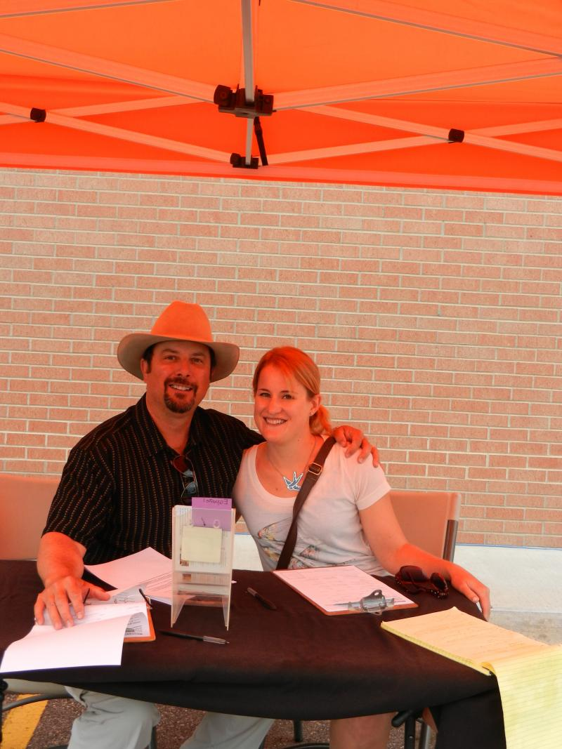 Author CJ Box with his daughter Molly Box Donnell