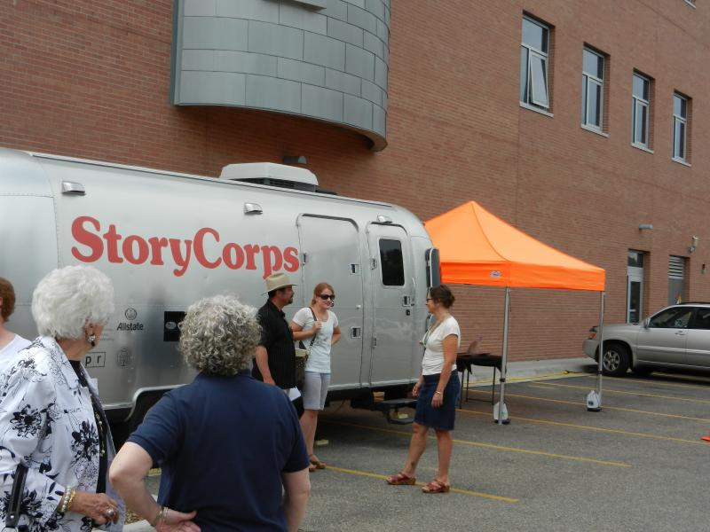 Waiting to be interviewed by StoryCorps