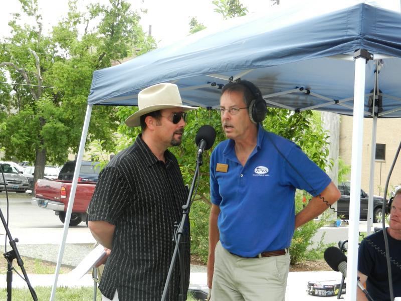 Morning Music Host Grady Kirkpatrick interviewing Author CJ Box