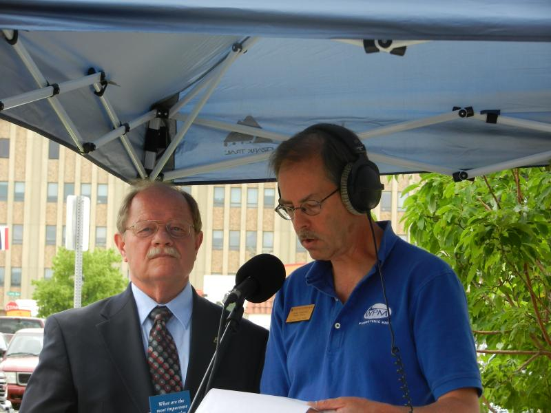 Cheyenne Mayor Richard Kaysen is interviewed by Morning Music Host Grady Kirpatrick