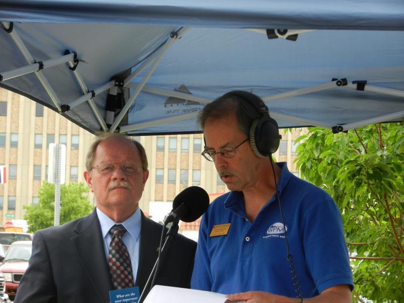 Cheyenne Mayor Richard Kaysen is interviewed by Morning Music Host Grady Kirpatrick