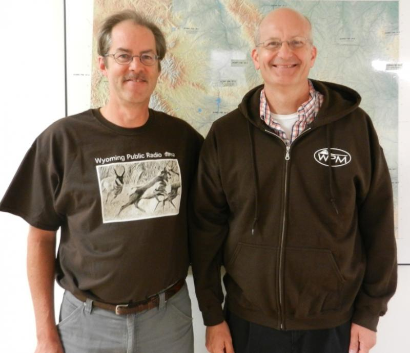 Grady wearing the t-shirt and Bob wearing the sweatshirt.