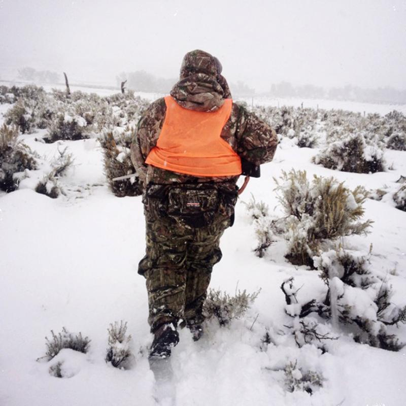 Crystal Mayfield stalk a group of antelope.