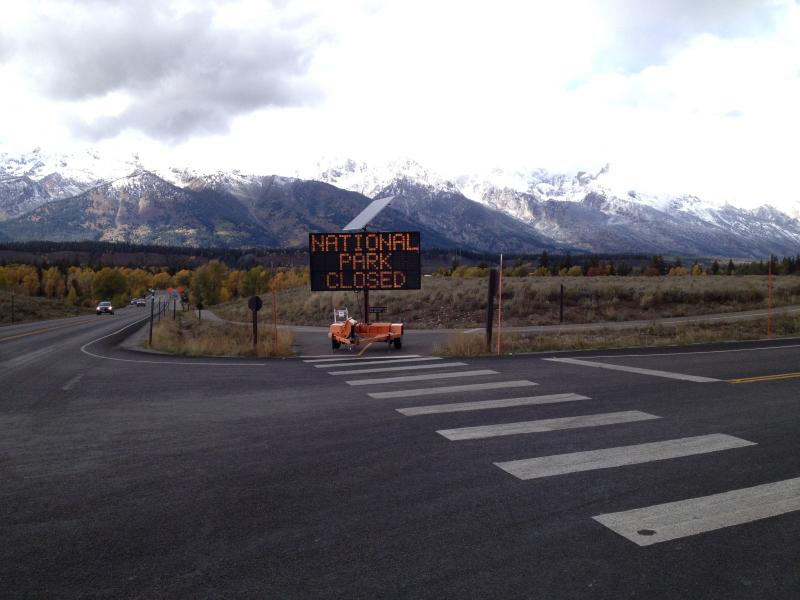 Visitors are turned away from Grand Teton National Park due to government shutdown