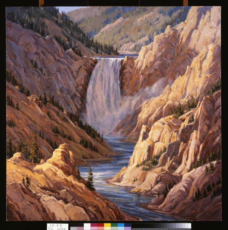 Kathy Wipfler, Lower Falls of the Yellowstone, 2006, oil on canvas. Buffalo Bill Center of the West, Gift of the Mary A. H. Rumsey Foundation, 10.07.