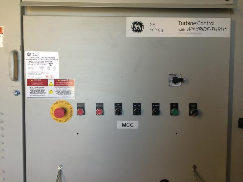 The outer control panel has an emergency shutoff switch, among other things.